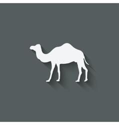 camel design element vector image