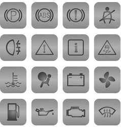 car driving icons 2 vector image