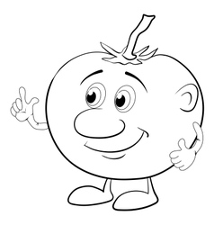 Character tomato outline vector image vector image