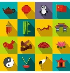 China flat icons vector image