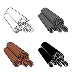 cinnamon icon in cartoon style isolated on white vector image