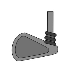 Color image cartoon closeup golf club vector