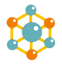 colorful chemical and physical molecules icon vector image vector image