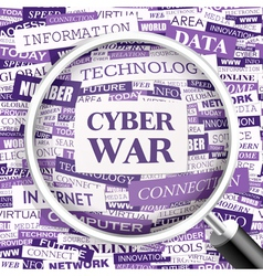 CYBER WAR vector image