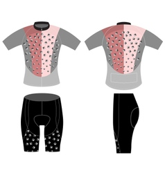 Cycling vest modern style vector