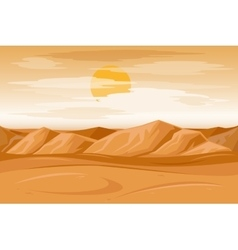 Desert mountains sandstone background vector image