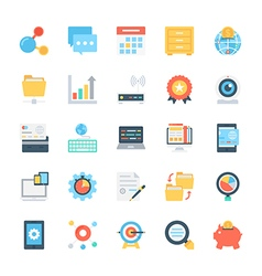 Design and Development Colored Icons 6 vector image
