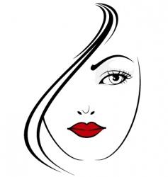elegant girl vector image vector image