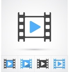 Film play trendy multi styles icon vector