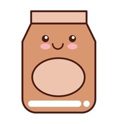 Flour bag isolated icon vector