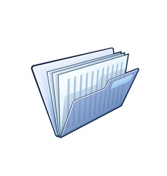 folder with documents vector image vector image