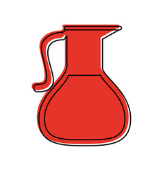 Glass jug with beverage icon image vector
