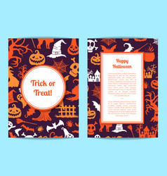 halloween card or flyer templates with vector image