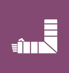 Icon broken arm vector