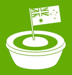 Little flag icon green vector