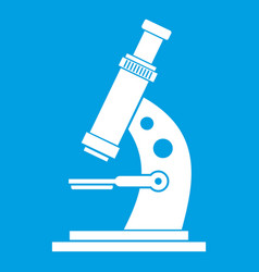 Microscope icon white vector