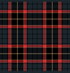 Navy blue tartan plaid seamless pattern vector