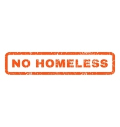 No homeless rubber stamp vector