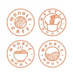 Noodle cafe logotypes vector