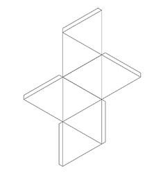 Octahedron vector image vector image