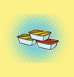Packing fast food sauce vector
