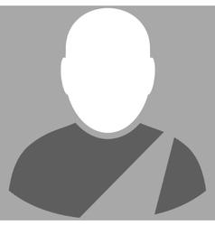 Patient Flat Symbol vector image vector image