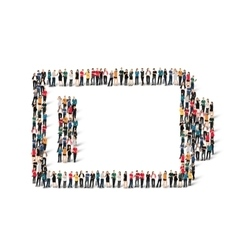 people form battery charge vector image vector image