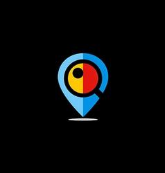 position GPS location icon logo vector image vector image