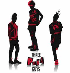 punk silhouettes vector image
