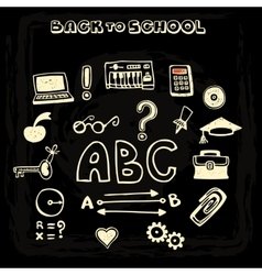 School and educational icons vector image