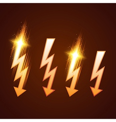 Shining Lightning Set vector image