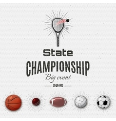 State championship insignia and labels for any vector image