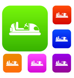 Toy car set collection vector