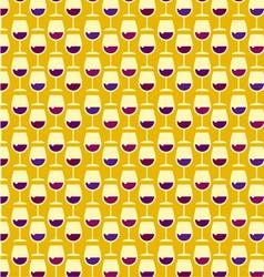 wine pattern vector image vector image