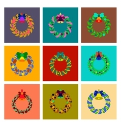 assembly flat Christmas wreath vector image