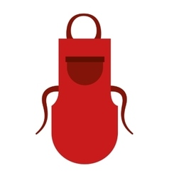 Kitchen apron isolated icon vector