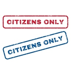 Citizens only rubber stamps vector