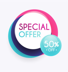 Sale banner design discounts and special offer vector