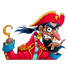 Funny pirate character vector