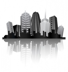 Abstract city design vector