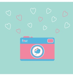 Photocamera bird vector