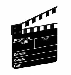 3d clapper board vector image