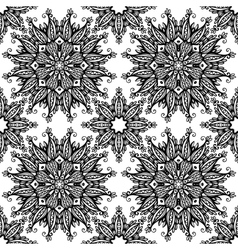 Black and white hand drawn vintage stars seamless vector image