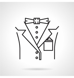 Black line icon for male suit vector