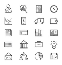 Business and finance money icons line vector