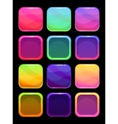 Funny bright colorful ui elements vector image