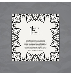 Design template business card with floral vector