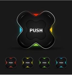 Futuristic button vector