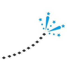 Fireworks trace toolbar icon vector