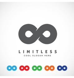 Abstract Limitless Symbol Icon or a Logo vector image